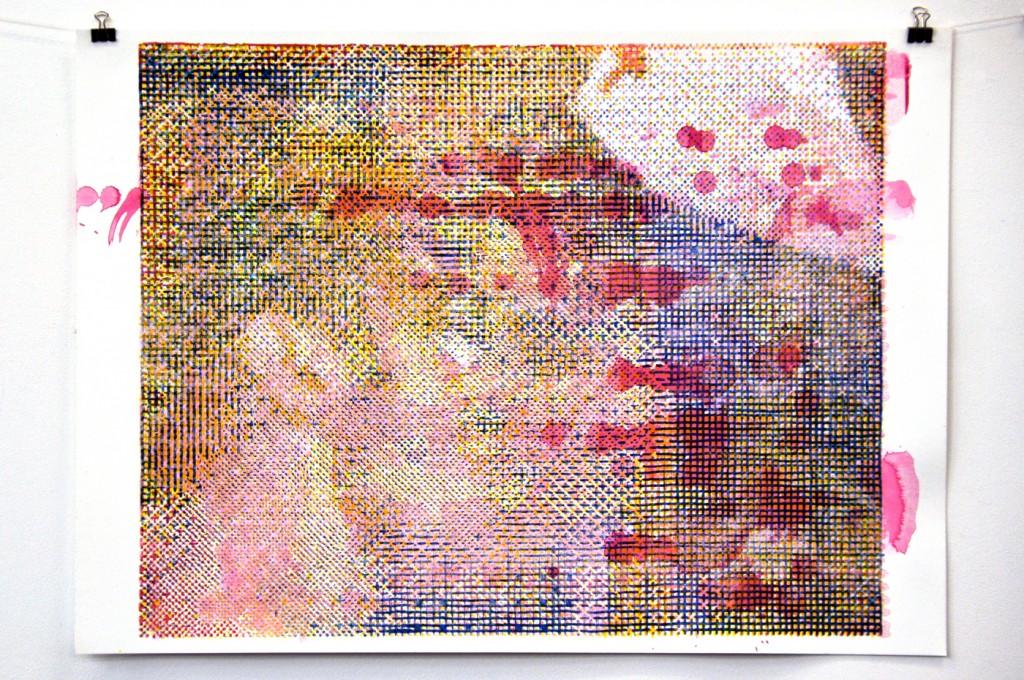 2014 50x35 cm, sérigraphie sur papier.