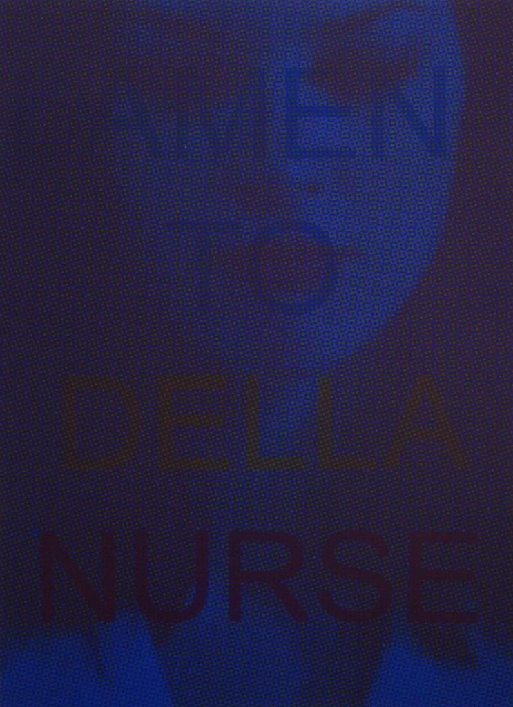 Couverture de Lamento della nurse, 2015. 20x27,5cm, couvertures sérigraphiées sur papier coloré, intérieur impression numérique sur papier recyclé.