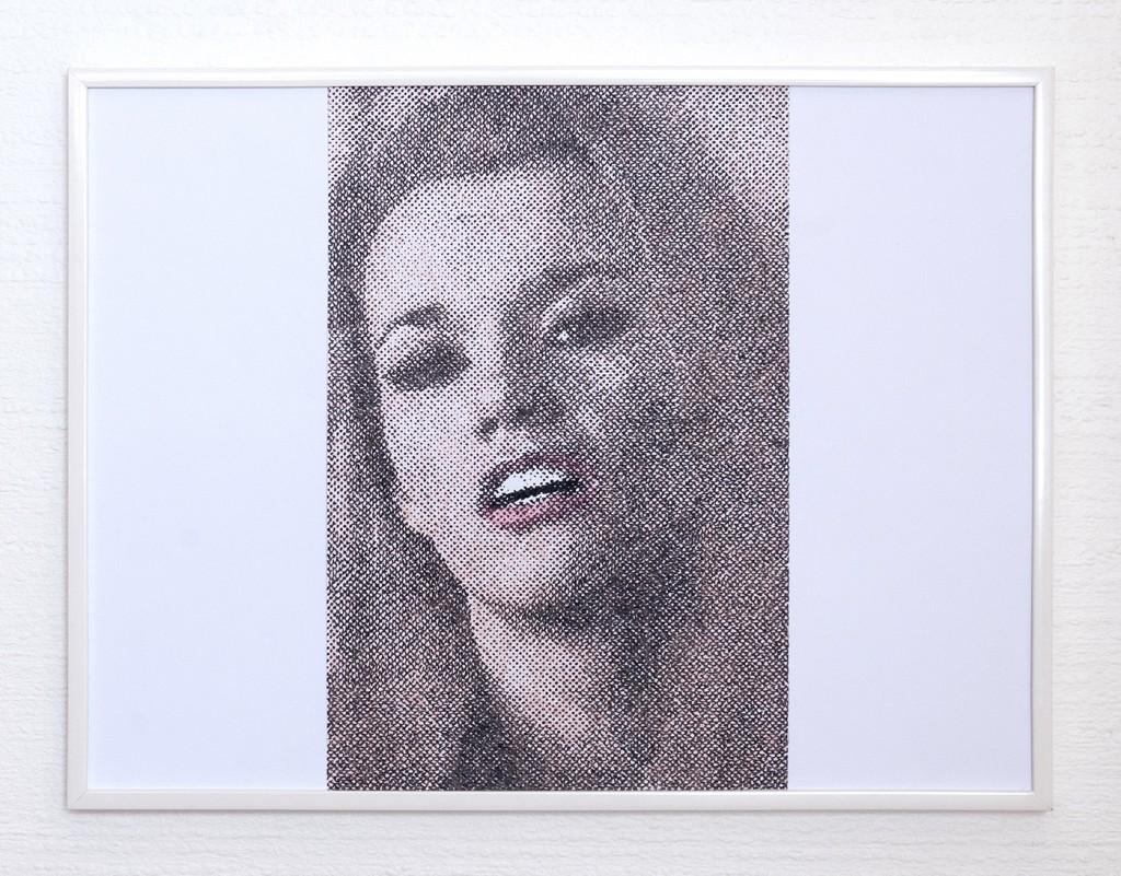 9 frames of Raven (frame 7) 30x40 cm, encre et crayons de couleurs sur papier. 2018