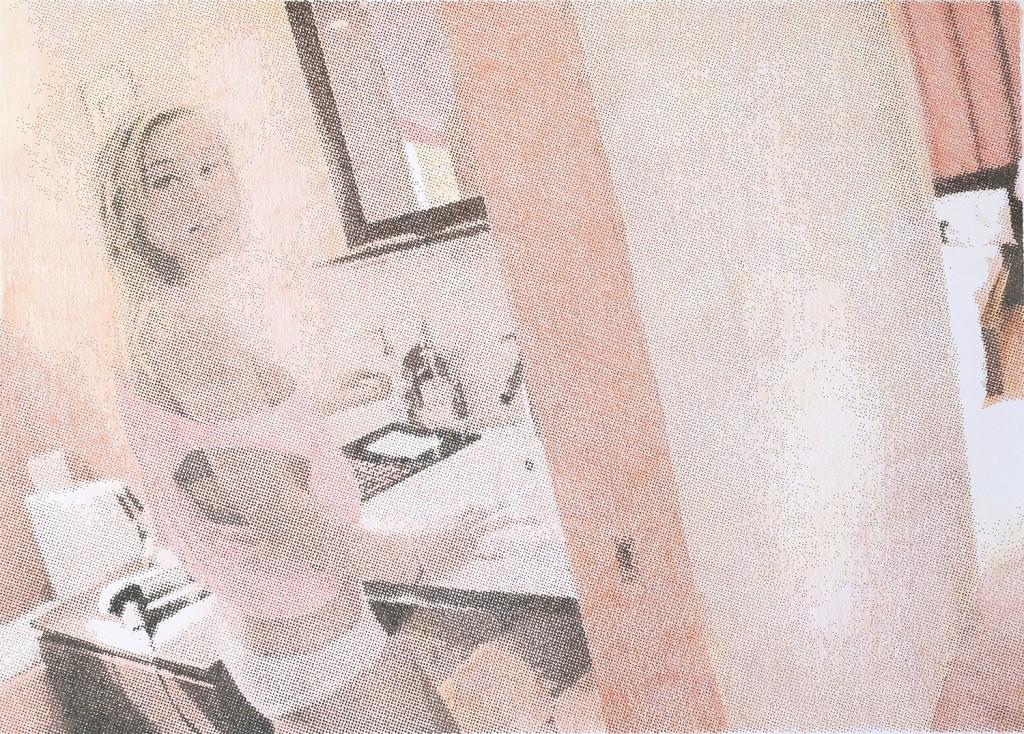 Kennedy in the bathroom Encre et crayons de couleurs sur papier, 50x70 cm. 2018