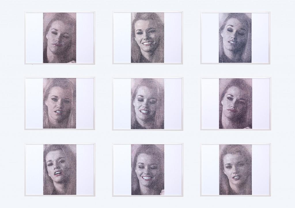 9 frames of Raven  Série de 9 dessins de 30x40 cm, encre et crayons de couleurs sur papier. 2018